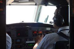 der Co-Pilot hat die Maschine gut über die Anden geflogen