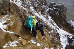 Paso de la Muerte - Traversierung unterhalb des Gipfels
