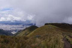 und doch noch lichtet sich die Sicht und wir sehen auf Quito: Neustadt / Mariscal
