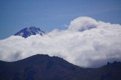 der Illiniza Sur bietet entgegen dem Illiniza Norte im Moment keine Gipfelsicht