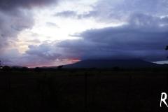 Sonnenuntergang auf dem Fussmarsch nach Hause