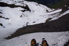 Das steilste Stück in Schnee ist passiert - bald auf der Sefinefurgge