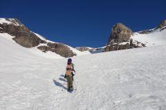 Sarah auf dem Gletscher