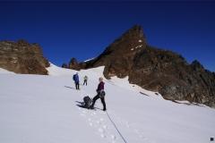 Vor uns das heutige Ziel: das Silvrettahorn!