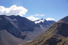 Erster Blick zum Wildhorn - morgen werden wir dort oben stehen! :-)