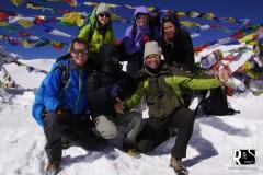zusammen mit unseren Manaslu-Freunden Olivia, Julika & Silvan