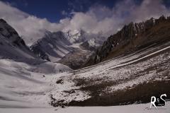 vom Pass Rückblick auf die nepalesische Seite