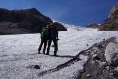 Kurz bevor wir den Gletscher verlassen - :-)