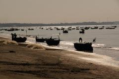 Früh-morgentliche Fischerszene Richtung Mui Ne