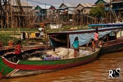 Dorfszene Kampong Phluk
