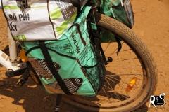 noch halten die Taschen aus Recycling-Material