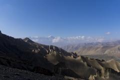 alpine desert in the rain shadow of the Himalaya