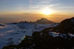 Ausblick zum Mawenzi - in der Nähe des Stella Point