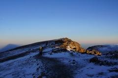 Rückblick zum Uhuru Peak