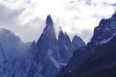 da guckt ja noch ein Vierter hervor: Punta Herron 2750m ü. M. (2. von rechts)