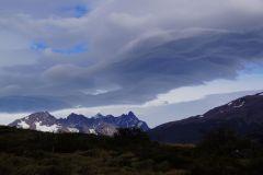 patagonisches Wolkenmuster