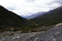Rückblick ins durchstiegene Tal