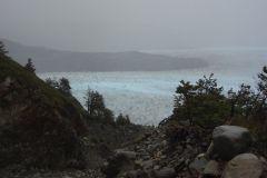 Glaciar Grey im Nebel
