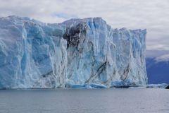 die 50m hohe Gletscherwand