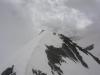 Der Grat vom Gipfel aus gesehen -  wegen dem sehr starken Wind war die Überquerung nicht so einfach