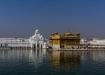 der Harmandir Sahib, umgeben von Nektar, welchem heilende und stärkende Kräfte zugesprochen wird. Auch kann man sein persönliches Karma verbessern, wenn man darin badet oder davon trinkt!