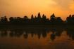 ein neuer Tag beginnt über Angor Wat..