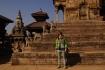 Sarah am Bhaktapur Durbar Square