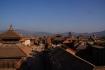 Überblick über Bhaktapur und dieser allgegenwärtige Smog, der über dem Kathmandutal liegt...
