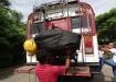 Gepäckablage Option 2: an einer Metallvorrichtung aufgehängt und tatsächlich am Ziel angelangt! =)