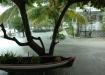 sintflutartiger Regen auf Caye Caulker