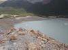 Blick von der Moräne runter: Laguna Torre