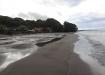 zurück an unserem Strand - gerade eben hat's noch geregnet