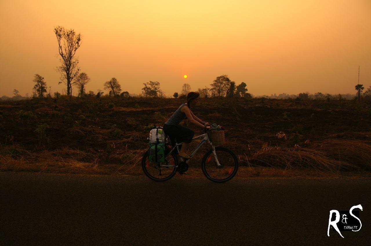 Abfahrt kurz nach Sonnenaufgang