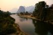 Rückblick auf die Karstberge rund um Vang Vieng