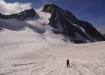 im Übergang auf den Studergletscher, unten ist noch der Galmigletscher ersichtlich...