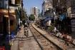 Bahngleis, welches Hanoi mit dem 1800 Km entfernten Ho Chi Minh City verbindet...
