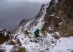 Im Abstieg, es schneite wieder