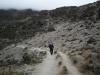 Jetzt führt der Weg auf rund immer der selben Höhe (um die 4000m ü.M) südlich entlang des Kibo