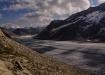 Schattenspiel auf dem Aletschgletscher