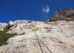 klettern im Klettergarten in unmittelbarer Nähe der Konkordiahütte...