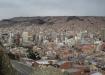La Paz von Norden gesehen: Das Zentrum von La Paz wurde, bzw. wird aus Platzmangel je länger je mehr in die Höhe gebaut.