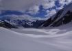 Atemberaubende Eiswelt - Äbeni Fluhe Firn, Abbruch des Ewig Schneefeld, Grüneggfirn und Grosser Aletschfirn fliessen beim Konkordiaplatz zusammen.