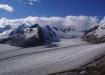 Der Jungfraufirn fliesst vom Joch runter zum Konkordiaplatz - und braucht dazu 35 Jahre!