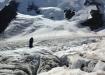 Eisfurchen und die gewältigen Eiswände des Dreieckhorns