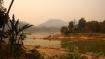 Zusammenfluss des Nebenflusses Nam Khan in den mächtigen Mekong