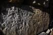 Gebetstafel einer Mani-Mauer des tibetischen Buddhismus.