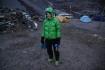 gerade aus dem Zelt geschlüpft - bissige Kälte draussen!