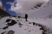 Aufstieg über den Schuttkegel Lajyung Bhanjyang oder auch genannt RUI LA