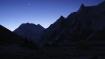 eisige Morgenstimmung im letzten Camp vor dem Larkye La in Dharamsala