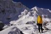 wehmütiger Blick zur Aufstiegsroute zu unserem Thulo Larkye 6249m